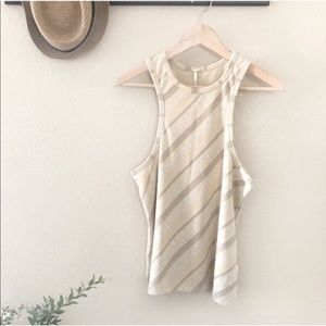 NWT FREE PEOPLE • sidelines striped racerback tank